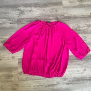 Vince Camuto Bright Pink Blouse Small